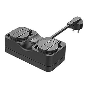 Presa WiFi Esterna Multipresa Smart Intelligente Outdoor Spina Plug 2 Prese uscita, Funzione Timer, Controllo Remoto… 41EbWwUganL. SS300