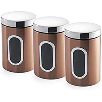 Smart Bread Bin & Canister Set Coffee Sugar Tea Stainless Steel Jar Holder Kitchen Food & Kitchen Storage Home, Furniture & Diy