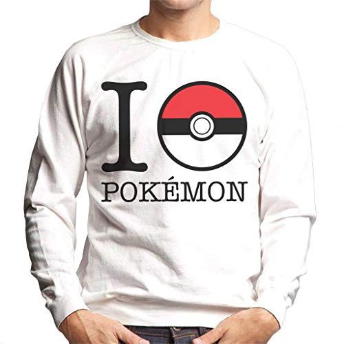 Cloud City 7 I Love Pokemon Pokeball Men's Sweatshirt