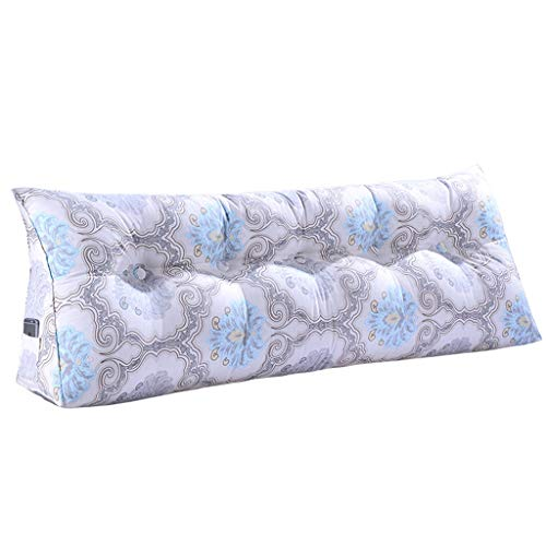 Coussins Augmenter les coussins de chevet Coussins de dos triangulaires Coussins de jardin et protecteurs de taille en toile Arrière Canapés de chambre élégants et luxueux de style nordique bleu
