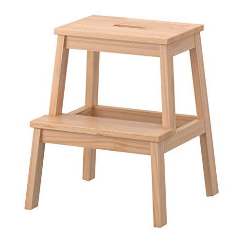 ZXWDIAN Escabeau échelle chaise chaise chaise chaussure tabouret tabouret super tabouret tabouret haut tabouret haut Escabeau banc chaussure changement banc (Couleur : Couleur du bois)
