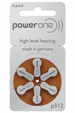 30 Hörgerätebatterien Power One Typ p312