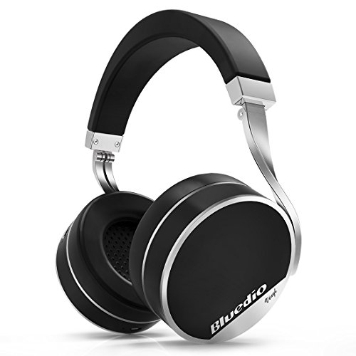 Bluedio Vinyl Plus Luxus wireless Bluetooth Kopfhörer 3D-Surround-Effekt mit Mikrofon Schwarz