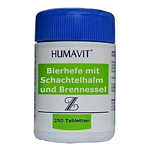 Bierhefe mit Schachtelhalm und Brennnessel, 250 Tabletten, bei Akne, Pickelentferner von innen, stärken Haare, haut, Nägel, bei Hautbeschädigungen, für unreine haut, Ekzem, mit biotin, kapseln