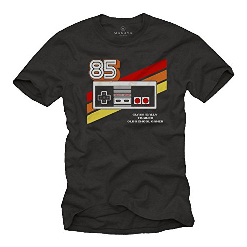 Gamer T-Shirt Hombre - Vintage Game Controller - Camiseta Friki Regalos Gaming...