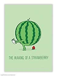 Funny Humorous 'Making S Strawberry' Postcard