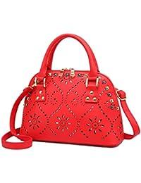 28a694b2f4f43 Yan Show Damen Chinesische Braut-Tasche Schultertaschen Lackleder Handtasche  Schale Tasche