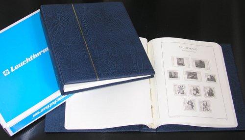 LEUCHTTURM SF Vordruckalbum BRD Bund 1990-1999 im blauen Schraubbinder NEU! (Leuchtturm 1998)