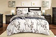 Comfortable Home 6piece King Size Bedding Sets, 1piece Quilt Cover=220x240cm,1piece Fitted Sheet=250x270cm, 2piece Pillow Co