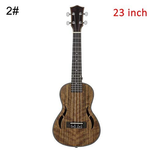 Cossll498 21/23 / 26inch 4 String Holz Ukulele Hawaiian Guitar Musikalisches Akustisches Instrument - Coffee 23inch