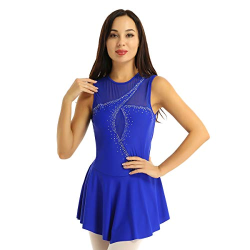 YiZYiF Maillot Gimnasia R/ítmica Ni/ñas Disfraz Princesa Nieve Azul Maillot Ballet Brillante Ni/ñas Body Patinaje Leotardo Danza Traje Bailarina Rendimiento