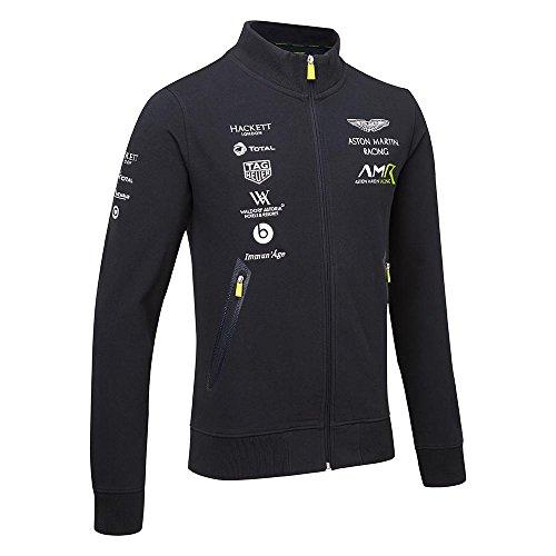 Aston Martin Herren-Sweatshirt, mit Reißverschluss, Größen XS - XXXL, 2018 , navy, Mens (L) Chest 40-42 inches (Racing Jacken)