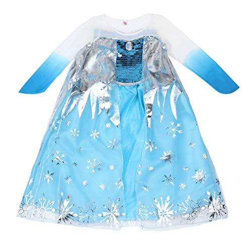 HermosaUKnight Neue Prinzessin Mädchen Kostüm Party Phantasie Schnee einfrieren Königin Cape Kleid - Schnee Königin Kostüm Zubehör