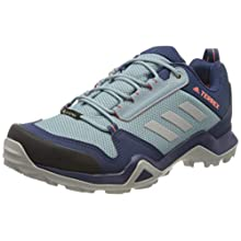 adidas Women's Terrex Ax3 GTX W Trail Running Shoe, Tech Indigo/Grey Two F17/Signal Coral, 5 UK