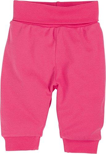 Schnizler Baby - Mädchen Hose Jogginghose, Babyhose mit elastischem Bauchumschlag, Oeko - Tex Standard 100, Gr. 50, Rosa (pink 18)
