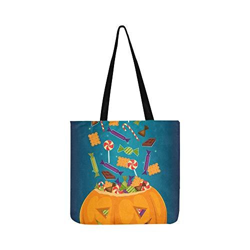 lle Süßigkeiten Leckereien Cartoon Leinwand Tote Handtasche Umhängetasche Crossbody Taschen Geldbörsen Für Männer Und Frauen Einkaufstasche ()