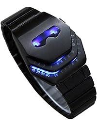 Disfrutar marrón LED reloj hombre Blue Ray vidrio Quartz Analógico Relojes