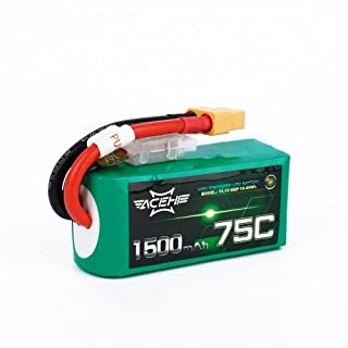 ACEHE 1500MAH 14.8V 4S 75C LIPO BATTERY FPV DRONE RACING LIPO