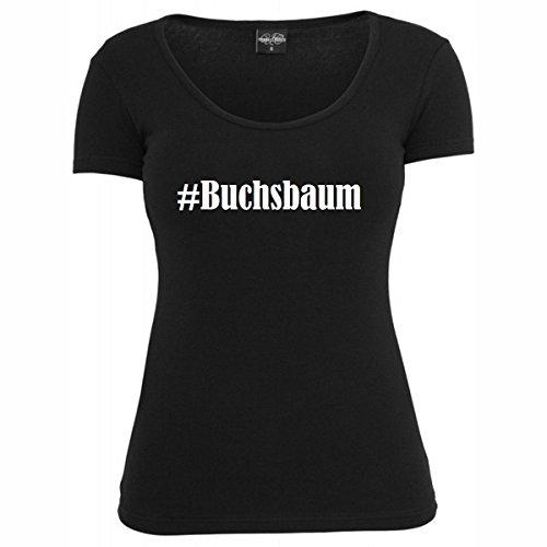 T-Shirt #Buchsbaum Hashtag Raute für Damen Herren und Kinder ... in den Farben Schwarz und Weiss Schwarz