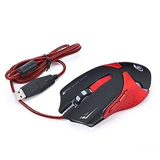 Ergonomische optische aoputek Profi Esports Gaming Maus verstellbar 3200DPI Atmung LED 6Tasten USB kabelgebunden für Mac Laptop Computer