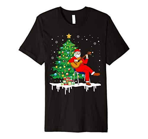 Weihnachtsmann, der Akustikgitarre-lustiges T-Shirt -