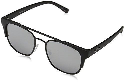 Quay Eyewear Unisex Sonnenbrille High and Dry, Schwarz (Blk/Slv Mirror), One size (Herstellergröße: Einheitsgröße)