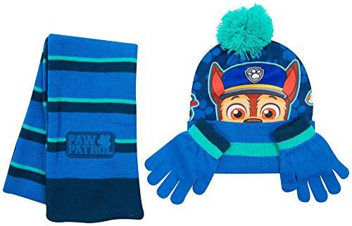 Disney- cappello bimbo inverno sciarpa guanti spiderman marvel avengers paw patrol frozen cappelli bimba invernali (pawpatrolbimbo)