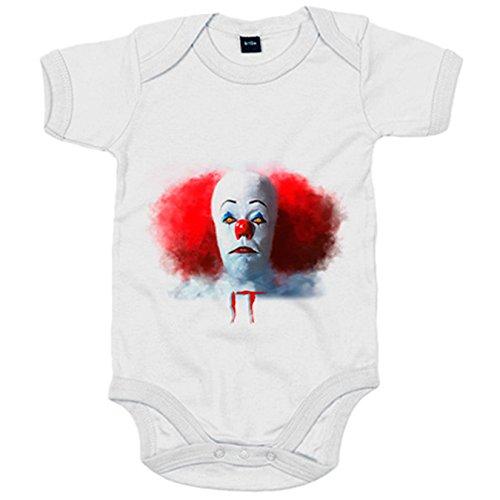 Body bebé IT payaso película de miedo - Blanco, 12-18 meses