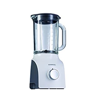 Kenwood 0W22310032 BLP600 Thermo-Resistant Blender with Variable Speed Settings, 800 W, White, Stainless Steel 1.5 liters