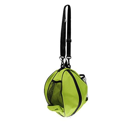 MagiDeal Wasserdichte Fußballtasche Basketball Tasche Volleyball Tasche mit Schultergurt, Tragbar, Wasserabweisende Balltasche, Sporttasche - Grün