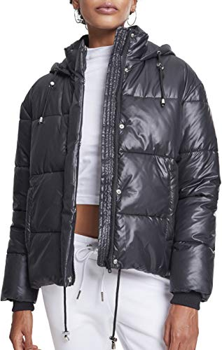 Urban Classics Damen Jacke Ladies Vanish Puffer Jacket Schwarz (Black 00007) X-Small