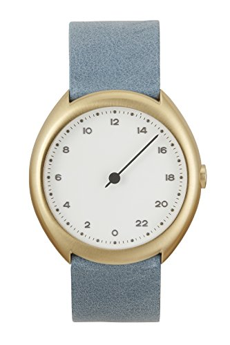 slow-O-13-Light-Blue-Vintage-Leather-Gold-Case-White-Dial-Unisex-Quartz-Watch-with-White-Dial-Analogue-Display-and-Light-Blue-Leather-Strap