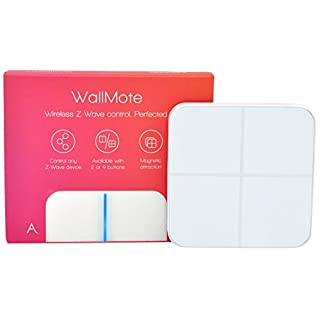 Aeotec WallMote Quad, Z-Wave Plus wireless wall switch, 4 button, 16 scene remote control