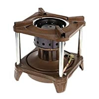 tenty.co.uk B Baosity 8-Wicks Outdoor Camping Cooking Stove Fuel Kerosene Diesel Alcohol for 2-3 People Brown