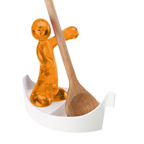 Koziol 3017509 Luigi Support de Cuillère en Bois/ Thermoplastique Orange Transparent 14 x 0,13 x non cm