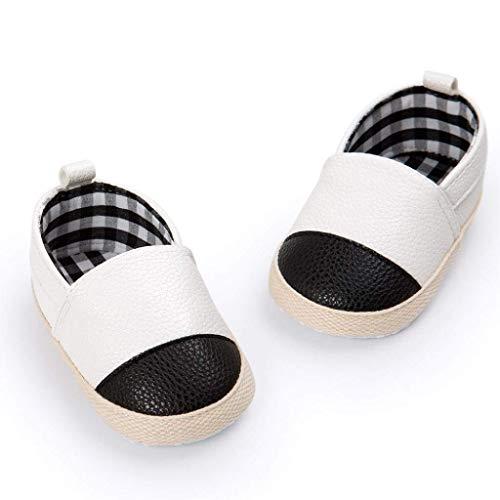 Fuxitoggo Baby erste gehende weiche Sohle Schuhe, für 0-18 Monate Baby, Junge Mädchen Mode Nette warme Bequeme rutschfeste weiche Sohle Stiefel (Farbe : Weiß, Größe : UK:1.5) 6-zoll-sexy White Schuh