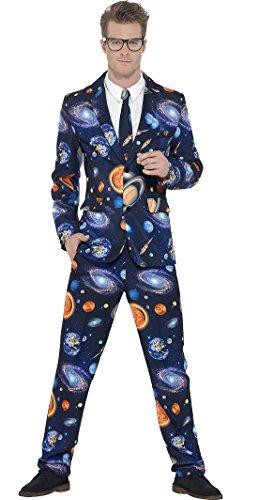 erdbeer-clown - Herren Weltraumanzug mit Jacke Hose und Krawatte, L, (Kostüme Hera Damen)