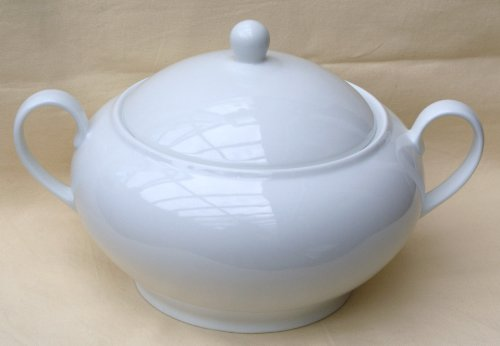 Terrine rund mit Deckel Porzellan weiß ca. 3 Liter