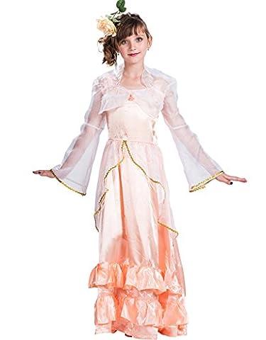 Fantast Costumes Mädchen am ärmel märchen - prinzessin party kostüm(Orange, Large)