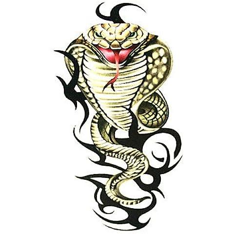 HJLWST® Serpiente 5 unidades a prueba de agua tatuaje temporal (6m * 6 cm)