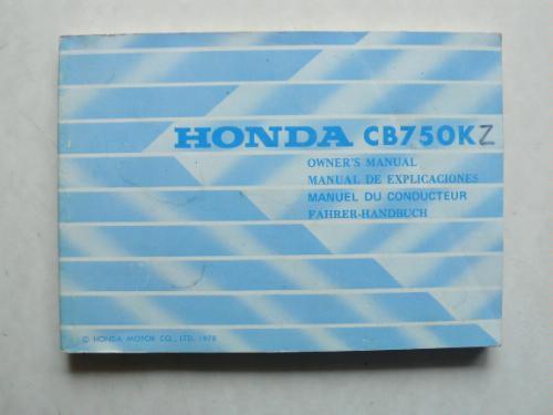 Honda CB 750 K (Z) Fahrer - Handbuch mit Schaltplan: Amazon.de ...