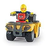 Smoby 109258000000 - Vehicule Enfant - Sam le Pompier,Quad Mercure - + 8 Accessoires - + 1 Figurine Incluse
