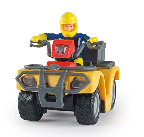 Smoby - 109257657002 - Vehicule Enfant - Sam le Pompier ,Quad Mercure - + 8 Accessoires - + 1 Figurine Incluse