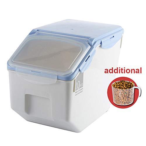 Baffect Envase de Comida, Caja de Almacenamiento para alimentación Animal, Comida para Perros Alimento para Gatos Envase para alimentación de Comida Seca Hermético, pequeño 4-6 kg, Azul