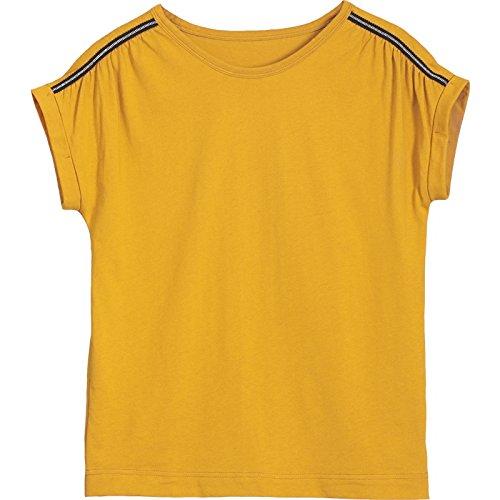 DYY Kurzarm T-Shirt Frauen Sommer Lose Einfache Plus Größe Top Solid Bat Batman T-Shirt,Gelb,XL (Größe Batman Plus)