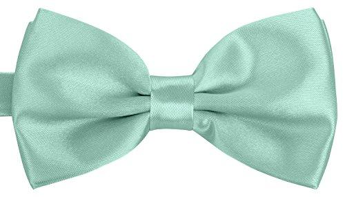 BomGuard Fliege für Herren blau I Männer Fliege für Hochzeit, Party oder edele Anlässe I Trendy Bow Tie I (White Party Anzug)