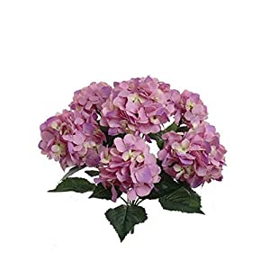 Exsiveme Hortensias artificiales de 7 cabezas, para decoración del hogar, boda, seda, hortensias secas falsas, color…