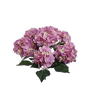 exsiveme 7-heads Bounquet Artificial flores de Hortensia casa decoración de la boda seda Artificial Hortensia en polvo, color rosa