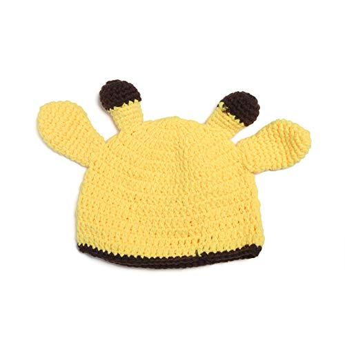 W&P wp Neugeborene Fotografie Kostüm Baby Mütze Handarbeit gestrickte niedliche Giraffe