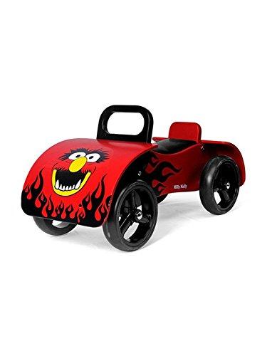 *Rutschauto Kinderfahrzeug Rutscher aus Holz Lauflernwagen Rutschfahrzeug Auto, Color:Red*